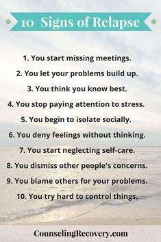 You may not aware of your triggers until you have a slip or relapse. What most people don't realize is that a relapse starts weeks or even months before actual use. Relapse Quotes, Addiction Recovery Quotes, Signs Of Addiction, Addiction Help, Recovery Humor, Recovery Tools, Addiction Therapy, Substance Abuse Counseling, Narcissist
