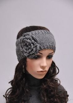10 off Dark Grey Head Band with Flower by MaxMelody on Etsy, $18.00