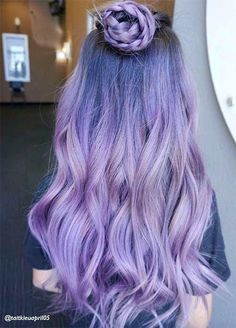 50 Lovely Purple & Lavender Hair Colors in Balayage and Ombr.- 50 Lovely Purple & Lavender Hair Colors in Balayage and Ombre Lovely Purple & Lavender Hair Colors in Balayage and Ombre - Lavender Hair Colors, Hair Color Purple, Blonde Color, Cool Hair Color, Purple Ombre, Lavender Ideas, Purple Tips, Dark Blonde, Ombre Hair Lavender