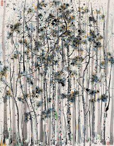 Wu Guanzhong (吴冠中) - Pine Forest (松林)...