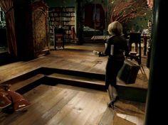 Penelope's bedroom- love the tree, bookshelves, swing...