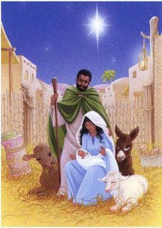 Black Christian Artwork For Christmas Nativity African American