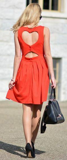 Heart back summer dress #TopshopPromQueen