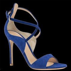 Gianvito Rossi Sisely sandals in blue.