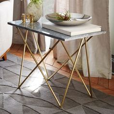 marble top side table   west elm