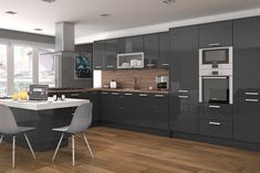 innova altino graphite high gloss kitchen http://www.diy-kitchens.com/kitchens/altino-graphite/details/