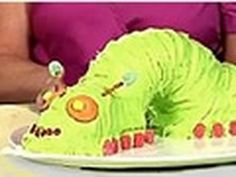 BETTY CROCKER STEP BY STEP: 3-D INCH WORM CAKE VIDEO  ( would look better using the wilton technique but good body idea)