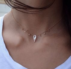 14kt-gold-and-diamond-white-topaz-dagger-drip-necklace