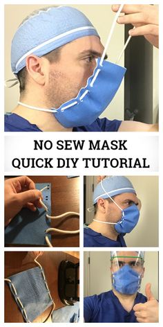 Low cost face shield mask diy tutorial + video fabric art diy how to make your own face mask for coronavirus my daily time beauty health fashion food drinks architecture design diy Easy Face Masks, Diy Face Mask, Nose Mask, Homemade Face Masks, Mask Video, Techniques Couture, Diy Mask, Mask Making, Sewing Patterns Free