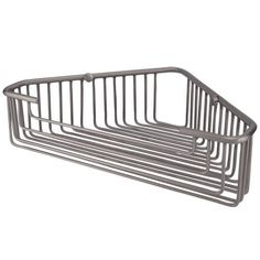 "11-3/4"" Solid Brass Open Corner Basket - Brushed Nickel"