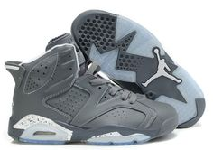 Air Jordan Shoes Air Jordan 6 Cool Grey White [Air Jordan 6 - Addicted to the customs yet? This Air Jordan 6 Cool Grey White is sure to win over some skeptics. Inspired by the infamous Air Jordan 11 of the same theme, this shoe takes on a grey upper o Nike Air Max, Nike Air Jordan 6, Air Jordan Shoes, Jordan Swag, Pumas Shoes, Men's Shoes, Nike Shoes, Roshe Shoes, Prom Shoes