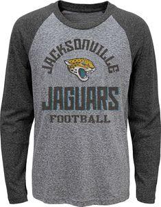 cb72571e5 NFL Team Apparel Youth Jacksonville Jaguars Gridiron Grey Long Sleeve Shirt