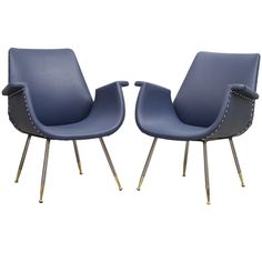 Gastone Rinaldi - Pair of armchairs  | From a unique collection of antique and modern armchairs at https://www.1stdibs.com/furniture/seating/armchairs/