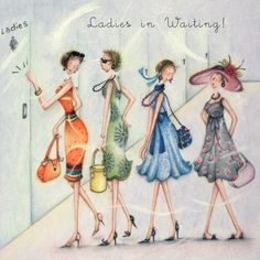 Ladies In Waiting -  by Berni Parker