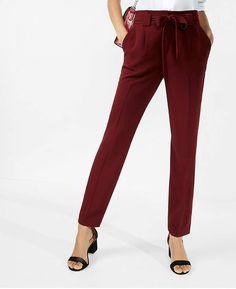 1965413334341 Express High Waisted Sash Waist Ankle Pant Plus Size Pants