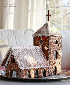 gingerbread church template to print - Google Search