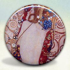 Gustav Klimt Mother and Child Pocket Mirror tartx