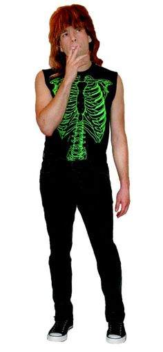 would be so awesome to do the whole band! Nigel Tufnel Costume - This Is Spinal Tap - Green Skeleton Shirt