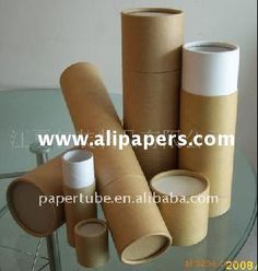 round kraft paper tube/cheap cylinder paper cardboard tubes/postal tubes with lid