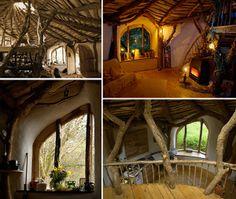 permaculture home! permaculture home! permaculture home! Casa Dos Hobbits, Woodland House, Woodland Fairy, Wales Uk, Natural Building, Earthship, The Hobbit, Hobbit Door, My Dream Home