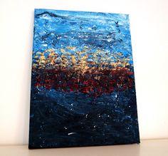 """Acrylmalerei - """"Unterwelt"""" - Abstraktes Acrylbild 30 x 40 - ein Designerstück von Johanna-Geiss bei DaWanda"""