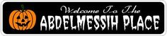 ABDELMESSIH PLACE Lastname Halloween Sign - Welcome to Scary Decor, Autumn, Aluminum - Welcome to Scary Decor, Autumn, Aluminum - 4 x 18 Inches by The Lizton Sign Shop. $12.99. Aluminum Brand New Sign. 4 x 18 Inches. Rounded Corners. Predrillied for Hanging. Great Gift Idea. ABDELMESSIH PLACE Lastname Halloween Sign - Welcome to Scary Decor, Autumn, Aluminum - Welcome to Scary Decor, Autumn, Aluminum 4 x 18 Inches - Aluminum personalized brand new sign for your Autum...
