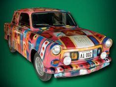 Trabant car used on stage during the U2 Zoo TV tour. #hardrock #U2