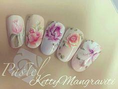 #naildesign #nailart #floralnail#flowernailart