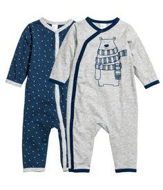 2er-Pack Pyjamas | Dunkelblau | Kinder | H&M DE