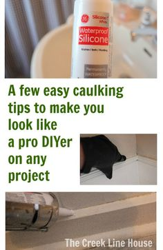 The Creek Line House: A few caulking tips that I discovered through trial and error. | When you're laying down your bead of caulking, you want to move in the same direction as you're squirting with your gun. So that means that as you squirt a little out, you immediately smooth it over with the tip of the gun. It sounds counter-intuitive, but it really makes for a lot less waste and a  lot less mess.