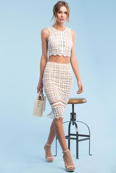 A'GACI l Spring Fling Crochet Pencil Skirt l #Agaci
