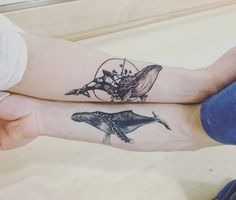 2 whale tattoo #whale #whaletattoo #tattoo #doubletattoo #татуировка #кит…