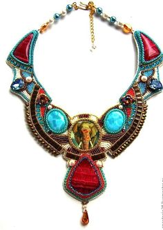 Beautiful embroidered jewelry by Ladyphenix (II) Click on link to see more photos - http://beadsmagic.com/?p=6775