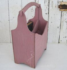 Pink shabby chic magazine rack