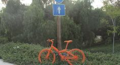 Wondering what's up with the bright orange bicycles around #sandiego? It's not a bicycle — it's an ad! It's part of a teaser campaign for a new Encinitas gym at 215 South El Camino Real. http://www.sandiegoreader.com/news/2014/jul/15/stringers-its-not-ad-its-bicycle/?utm_content=bufferf9dce&utm_medium=social&utm_source=twitter.com&utm_campaign=buffer