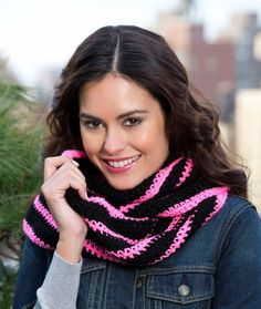 Bright Stripes Cowl.  *used K hook and vanna's choice yarn... only did 10 rows total so it fit Bird better... works great on her and the length is just right to twist/wrap... *