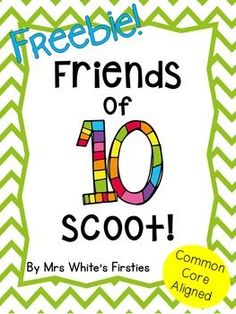 of Ten Scoot: Freebie FREEBIE! Friends of ten/making 10 scoot game. Fun, engaging, great for informal assessment. Friends of ten/making 10 scoot game. Fun, engaging, great for informal assessment. Math Strategies, Math Resources, Math Activities, Free Math Games, Number Sense Activities, Second Grade Math, Grade 1, Math Stations, Math Centers