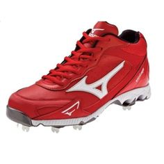 SALE - Mizuno Vintage G6 Baseball Cleats Mens Red Leather - Was $69.99 - SAVE $33.00. BUY Now - ONLY $36.98