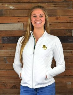 Stay warm and cozy on chilly Baylor game nights in this great new quilted jacket. Go Bears!