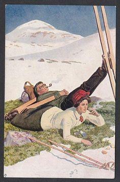 Andreas Bloch - En hvil i fjellet. Utg Mittet tidlig 1900-tall