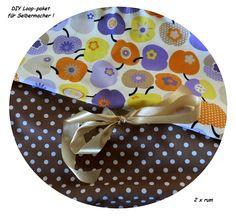 DIY Loop Stoffpaket Apfel multi – Dots - Kreawusel-handmade