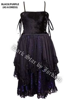 Dark Star Black and Purple Corset Dress Skirt [DS/SK/7449] - $72.99 : Mystic Crypt, the most unique, hard to find items at ghoulishly great prices!