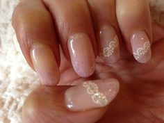 Lace Nails for Wedding