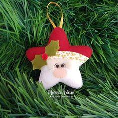 Felt Christmas Decorations, Christmas Ornaments To Make, Felt Crafts, Holiday Crafts, Christmas Applique, Christmas Sewing, Christmas Toys, Fabric Ornaments, Handmade Ornaments