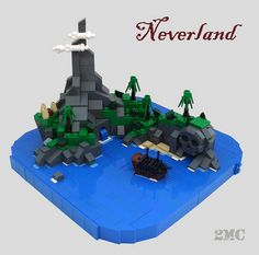 LEGO Micro-Scale Neverland MOC (2 Much Caffeine Flickr)