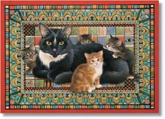 I ❤ kitties  . . . Puff and the Egyptian Eye- Lesley Anne Ivory cats