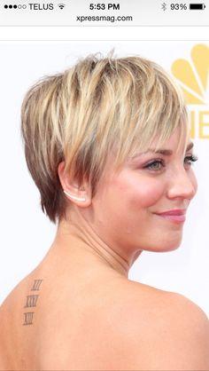Katey Cuoco short haircut.