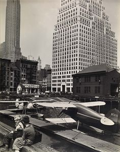 Downtown skyport, foot of Wall Street, 1936.