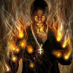 """soufilhadeumbanda: """" Laroyê Exú, Exú Amojubá Eu perguntei a ele o que é Exú ele vem me falar Exú é caminho, é energia, é vida, é determinação, é cumpridor da Lei, Exú é esperto, Exú é guardião, Exú é trabalho, é alegria veloz, Exú é viver, é a magia,..."""