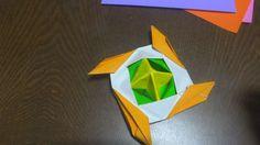 장난감 팽이 종이접기 방법 3번째 - 색종이로 팽이종이접는방법 ~! Origami Spinning Top